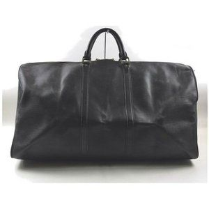 Louis Vuitton Black Epi Leather Noir Keepall 60